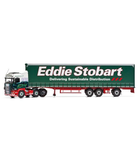 1:50 Scale Corgi Scania R Series with Extra Long Curtainside Trailer