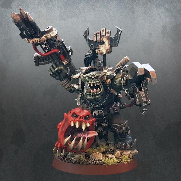 Warhammer 40K Goff Ork Warboss Grukk Face Rippa