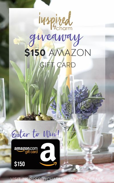 Treat yourself to a decor update! ENTER TO WIN a $150 Amazon Gift Card via @inspiredbycharm #giveaway #amazon