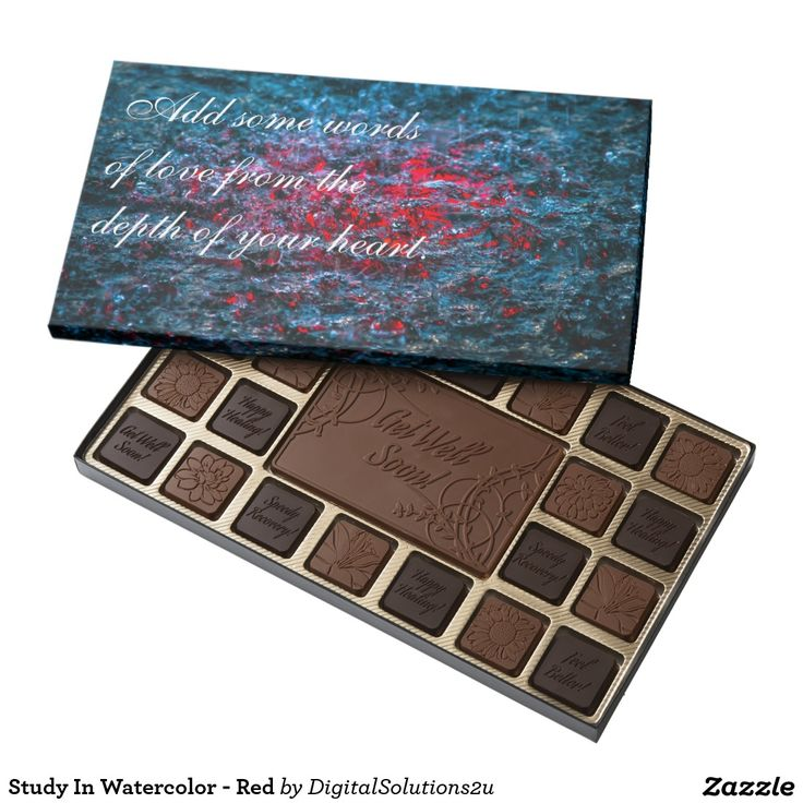 Study In Watercolor - Red 45 Piece Box Of Chocolates