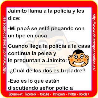 #Chiste de #Jaimito y la #pelea de su #papá #policia #padres #casas   #chistes    #chistesmalos #chistosos #humor #risa #memes  #memesenespañol  #memesdivertidos #chistaco