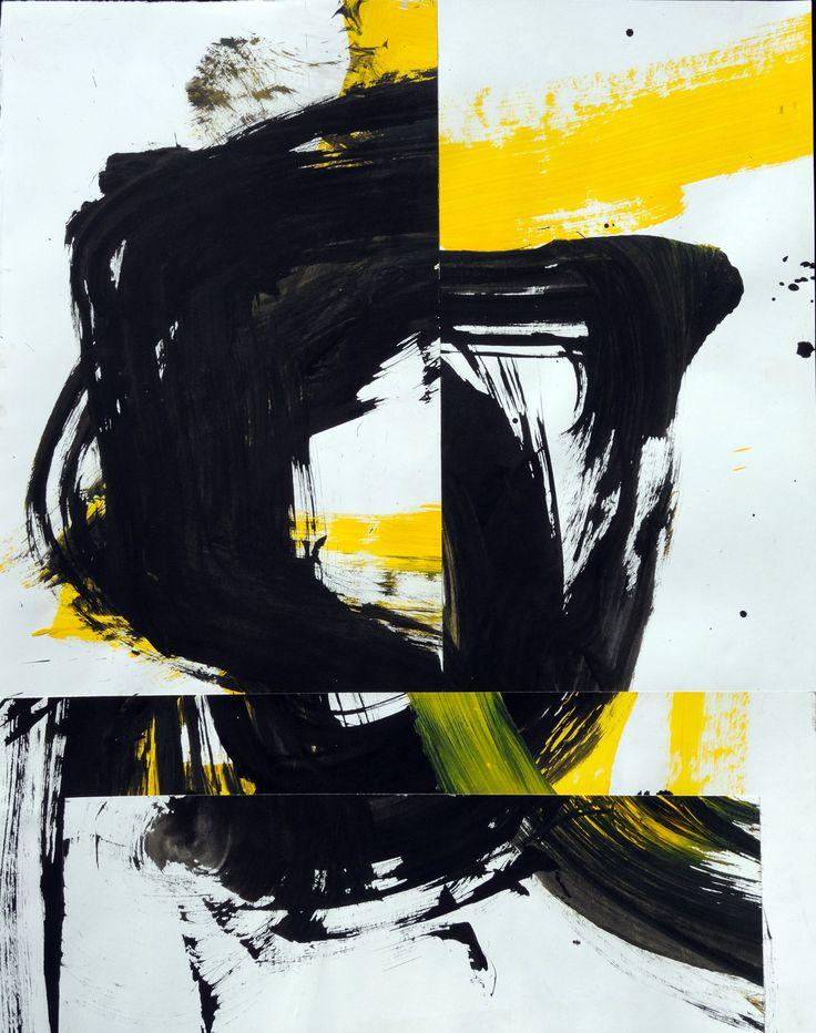 Hoofdzaak, 2017 Ink, acrylic and collage 21,7 x 27,5 inch (55 x 70 cm) http://eelkevanwillegen.nl/