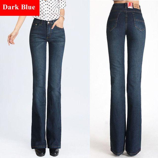 Spring Slim Fit Plus Size Flare Jeans High Waist Stretch Skinny Jean Vintage Bell-Bottom Pants Denim Trousers Xxl 4Xl 5Xl Xs 6Xl
