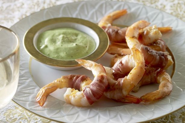 Prosciutto prawns with basil aioli main image (was delicious and aioli was better a few days later)