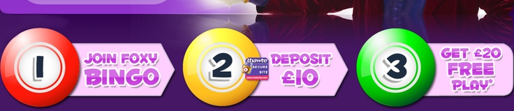 Easy as 1-2-3 at Foxy Bingo ... £20 Free