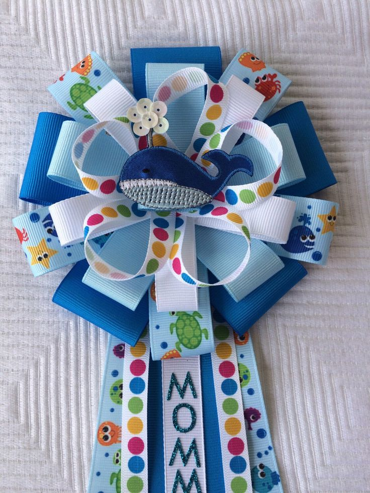 Whale Baby Shower Corsage Sea Party Nautical Baby Shower Ocean Baby Shower  Under The Sea Baby Shower Beach Baby Shower Mommy To Be Gift