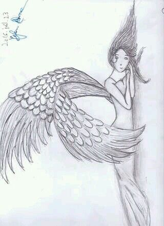 #Manga# Angel# pencil#