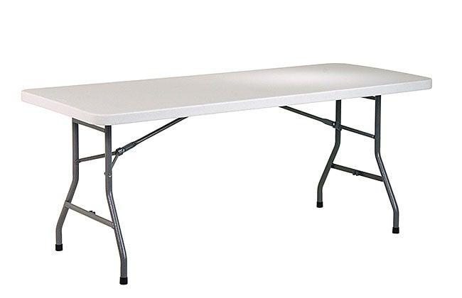 Office Star 6 ft. Center-fold Resin Top Multi-purpose Table