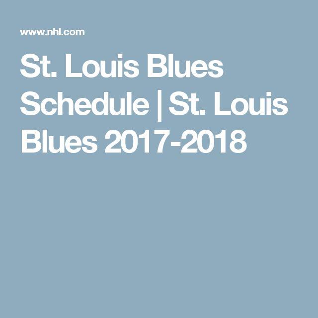 St. Louis Blues Schedule | St. Louis Blues 2017-2018