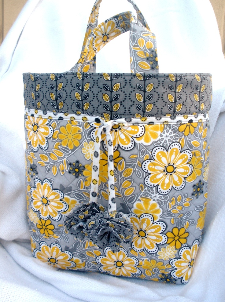 Quilted Knitting Bag Pattern Free : Free quilted tote bag pattern sewing projects tutorials