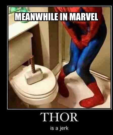 Meanwhile in marvel - funny memes - http://jokideo.com/meanwhile-in-marvel-funny-memes/