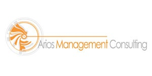 Management consulting logos need to be simple and tend to be abstract. The word Arios is Greek so the design hints of mythical Greece without being too fantastical. Orange is a strong color but not over-powering, balanced with grey.