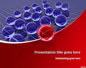 3D Spheres Leadership PowerPoint Template #PowerPoint #templates #spheres