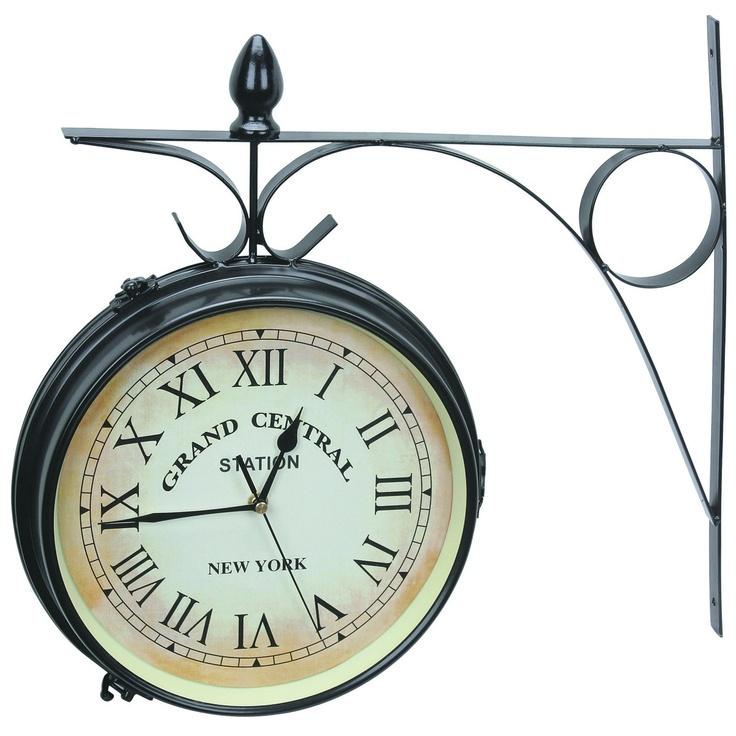Dual Sided Vintage Garden Clock http://blog.harborfreight.com/garden-clock-decorating-idea/1284/