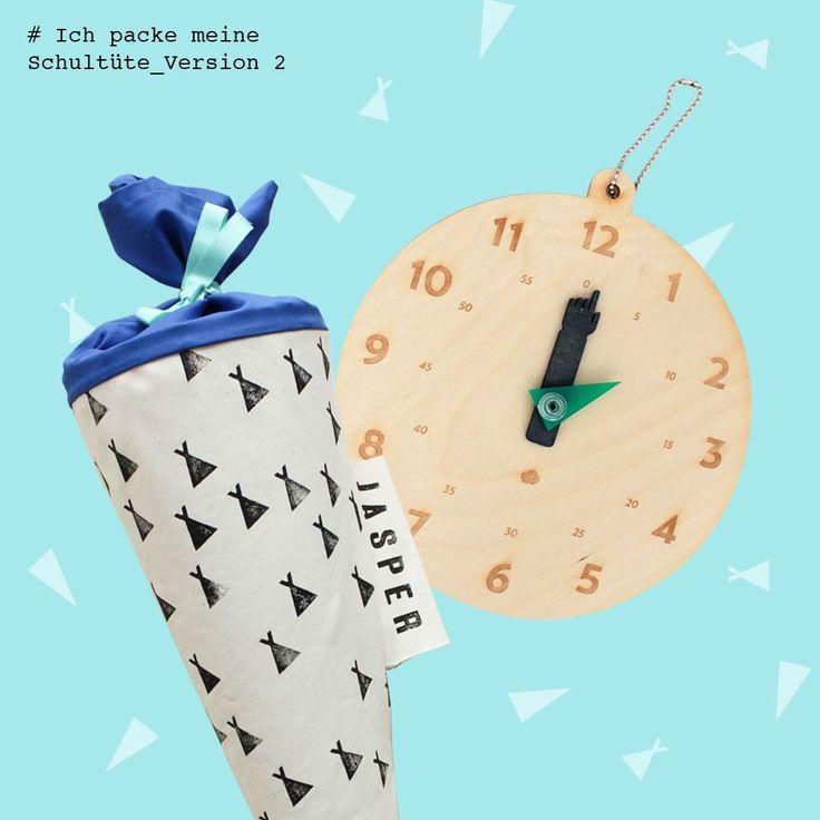 Ich packe meine Schultüte - Ausgabe ZWEI: mit den tollen ticktack Lernspieluhren von dem Berliner Label jäll & tofta #jaellundtofta #tinyday.de #einschulung2016 #schultüte #Zuckertüte #Unique #handmade #kids #family #school #lifewithkids #instakids #coolkids