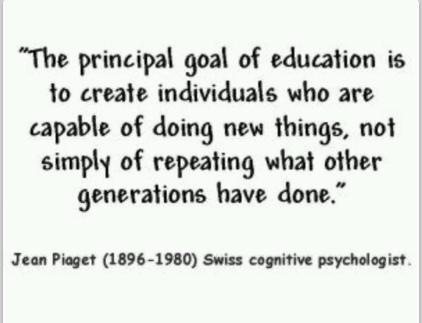 Jean Piaget Quote Are We Forming Children Who Are Only: 72 Best Images About Education Quotes On Pinterest