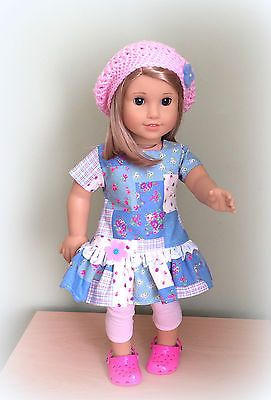18 inch Doll Outfit to fit American Girl and Similar. Patterns from Puxie Faire and Simplicity.