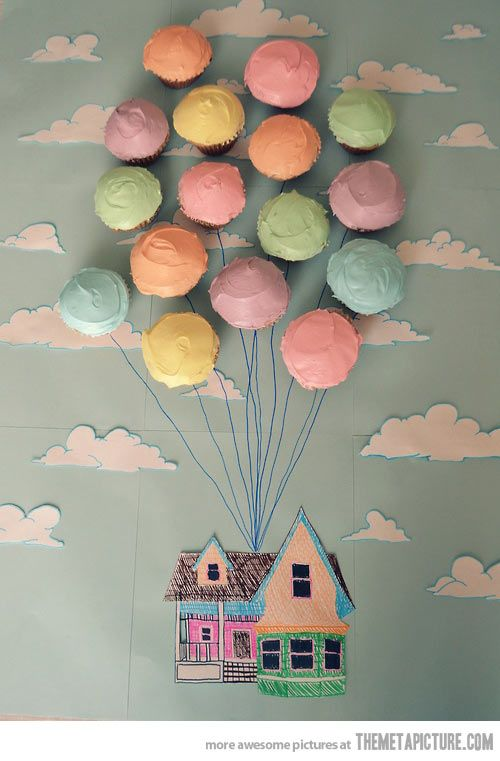 """Up"" cupcakes. Adorable!!"