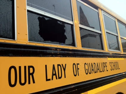 Bullet tears through school bus on South Side; no one injured - Chicago Sun-Times