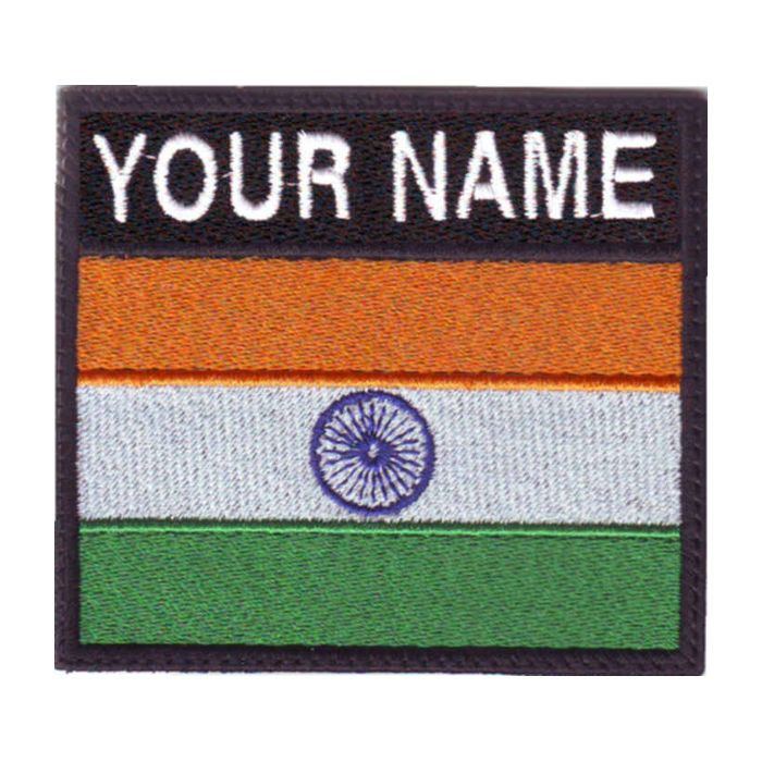 INDIA BADGE CUSTOM FLAG EMBROIDERED SEW ON PATCH #ThePatchLab
