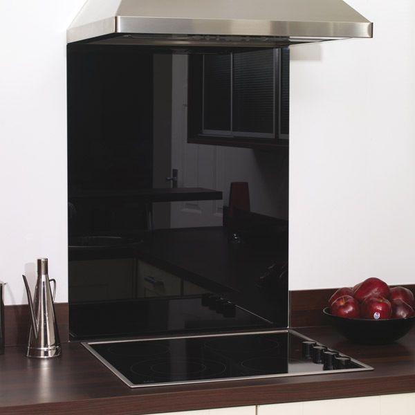 Black Glass Splashback Heat Resistant - Toughened 1000 x 750mm, FAST DELIVERY in Home, Furniture & DIY, Appliances, Cookers, Ovens & Hobs | eBay