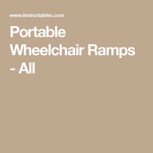 Portable Wheelchair Ramps - All
