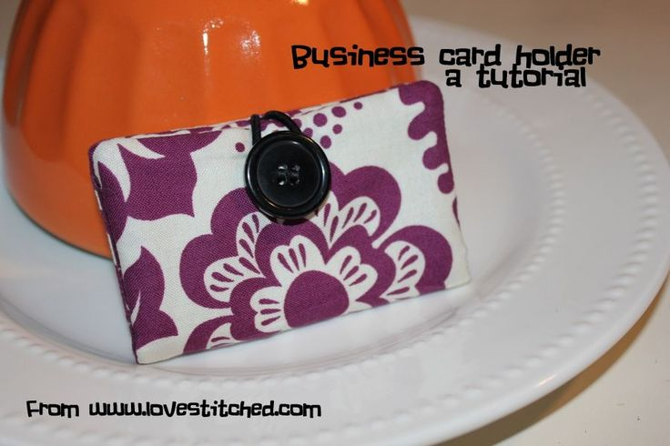 how to make your own fabric business card holder {or it would make a great lil wallet too}