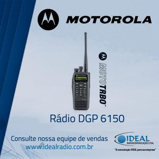 Venda e locação do rádio comunicador Motorola DGP6150 . O portifólio do rádio MOTOTRBO lhe oferece uma solução privada, econômica, baseada em padrões, que pode ser feita sob medida para satisfazer suas necessidades de cobertura e de característica exclusivas.