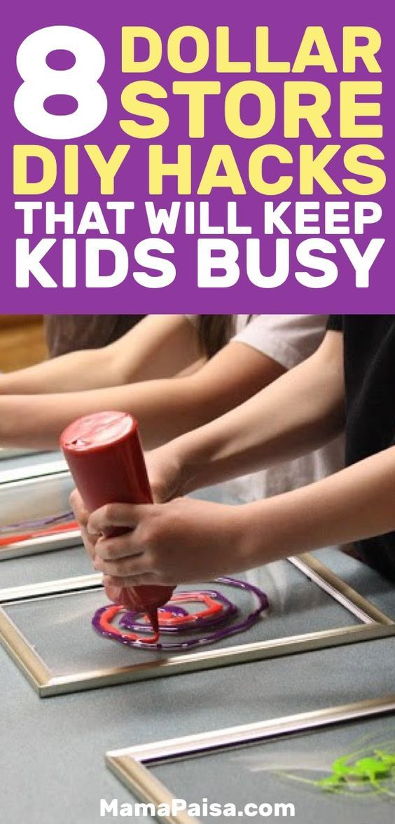 8 Dollar Store Hacks that will Keep your Kids Busy