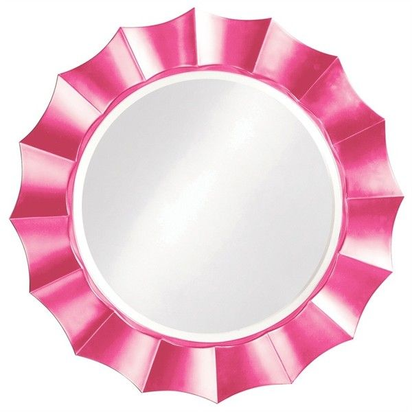 Pink Wall Mirror ❤ liked on Polyvore featuring home, home decor, mirrors, pink wall mirror, pink home decor, wall mirrors, wall home decor, pink mirror and wall hanging mirror