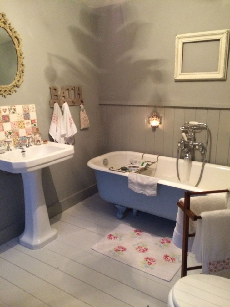 Pretty bathroom. Tiles from Welbeck tiles. Mirror from French Gray