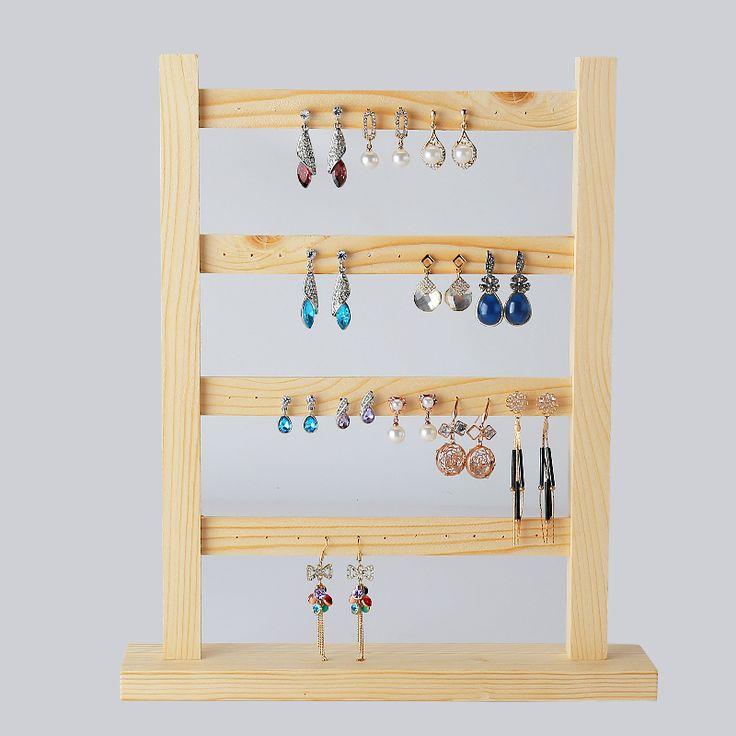 >> Click to Buy << Wood Earrings Display Holder Earrings Display Frame Jewelry Display Holder Wood Jewellery Display Rack #Affiliate