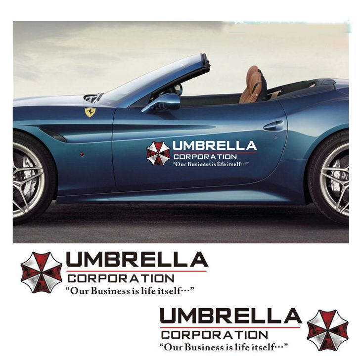 Umbrella Sports Racing Vinyl Graphic Sticker Car Auto Side Door