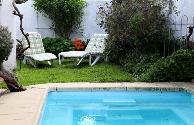142 on 10th Street: Out side private pool. FIREFLYvillas, Hermanus, 7200 @fireflyvillas ,bookings@fireflyvillas.com,  #142on10thStreet #FIREFLYvillas #HermanusAccommodation