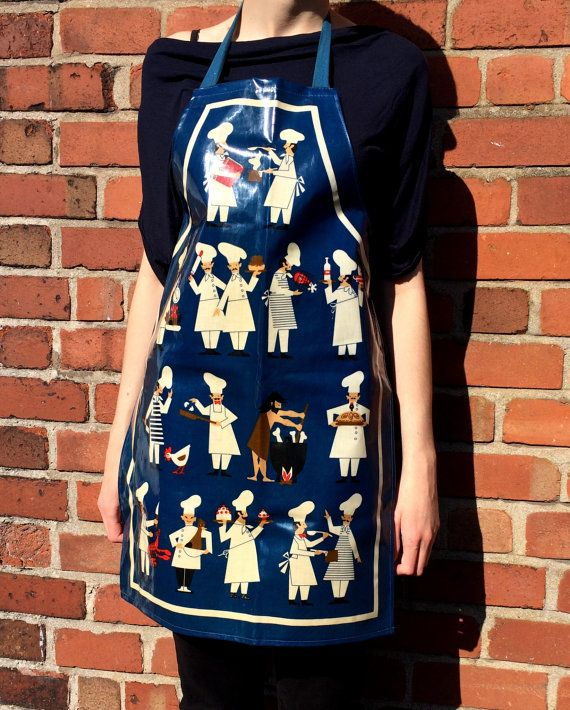 Vintage St Michael Pvc Apron Featuring Various By
