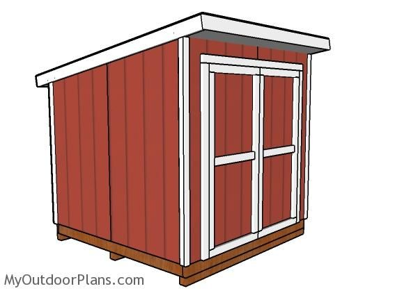 8x8 Lean To Shed Plans In 2019 Diy Storage Shed Lean To
