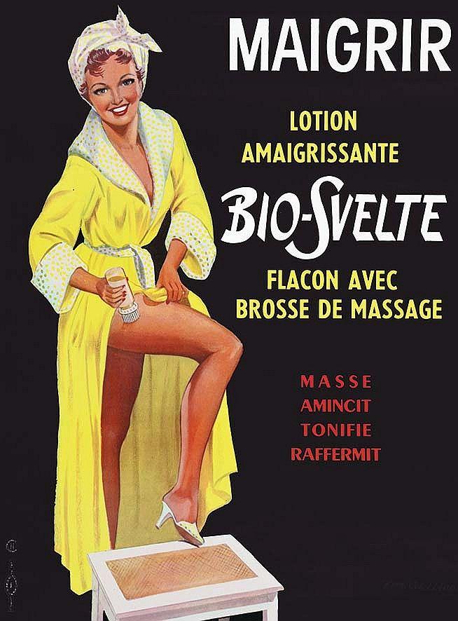 Maigrir - Lotion amaigrissante Bio-Svelte - 1950's - (E. Gaillard) -