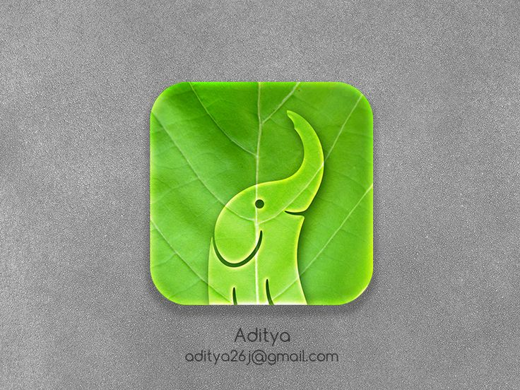 Eco Elephant ios app Icon by Aditya Chhatrala