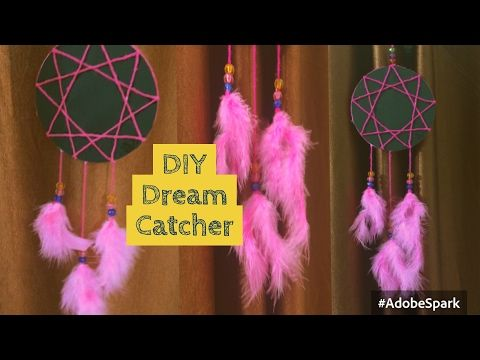 DIY Dream Catcher using old CD : How to make Dream Catcher/wall decor using CD | Recycle old CD - YouTube
