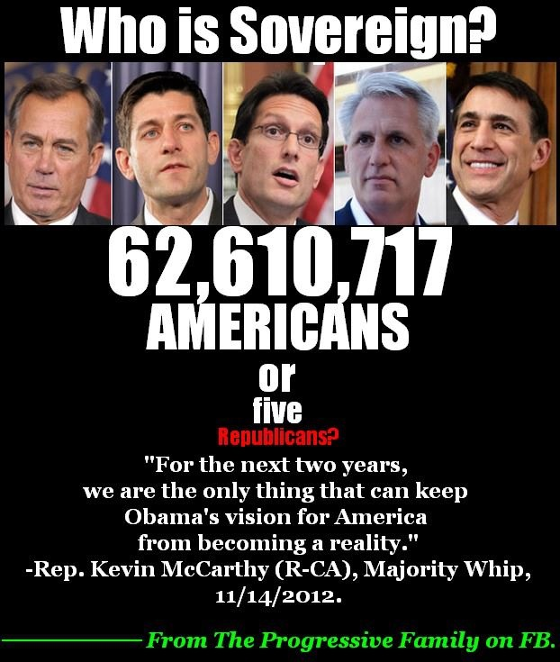 We must remain vigilant against these douchebags! Vote them out of office every chance we get! The GOP has nothing to offer out country except greed, and corruption! Patiently waiting for the 2014 elections.