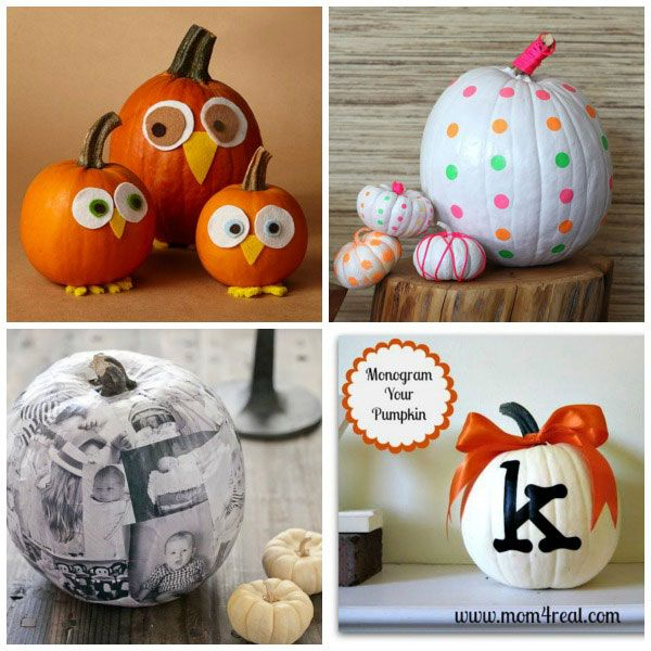 Halloween Pumpkin Designs Without Carving Part - 25: Ways For Kids To Decorate Pumpkins Without Carving