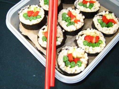 Brown rice sushi, Brown rice and Sushi on Pinterest