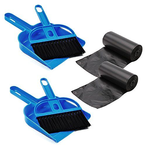 DOGGIE-DOGGIE Mini Dustpan and Broom Set,Cage Cleaner for Reptile, Hedgehog, Hamsters,Degus,Chinchilla,Guinea Pig,Rabbits and Other Small Animals,Cleaning Tool Set for Animal Waste (2 Pack)  Clean for Your Pets:Doggie-Doggie Dustpan and Broom Set is designed for small animals like Reptile, Hedgehog, Hamsters,Rabbits,squirrels and Other small animals.To keep a clean and tidy habitat for your beloved little ones.  Perfect Size to Use:To clean waste from small animals, it needs small and ...
