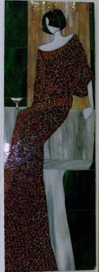 Glass Mosaic, woman,