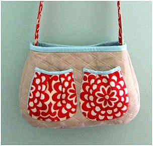 nemcsak táska: kétzsebes táska, útmutatóval