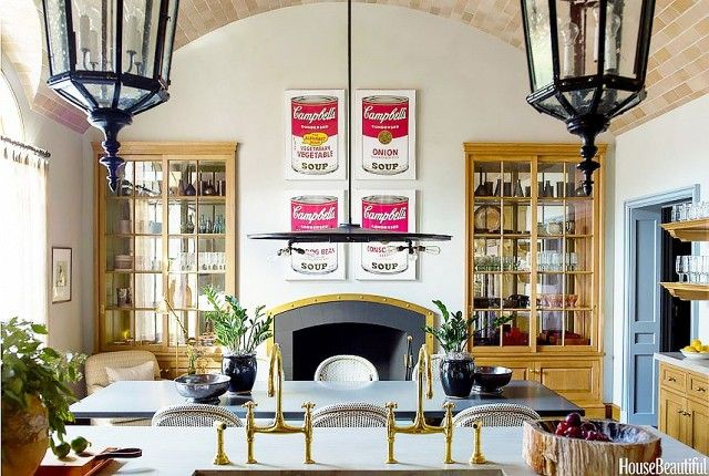 Kitchen With Warm Wood Cabinets A Barrel Vault Brick Ceiling And