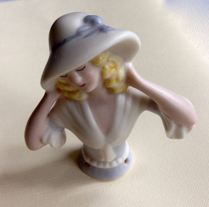 Vintage Porcelaine Half Doll Figurine by Garnetfleuri on Etsy