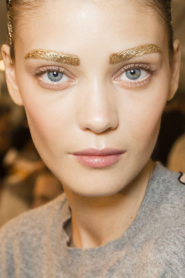 pfw dior backstage makeup by pat mcgrath ss2014 gold eyebrows beauty pinterest pat. Black Bedroom Furniture Sets. Home Design Ideas