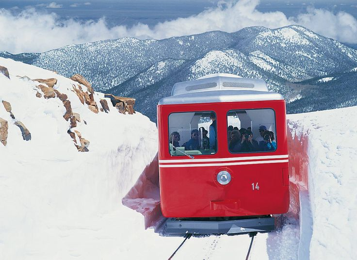 It's well worth it to ride the Pikes Peak Cog Railway during winter!