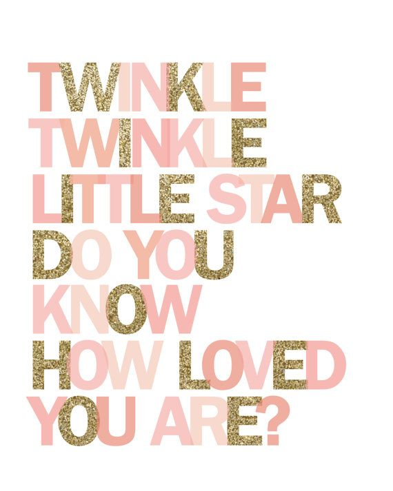 Printable wall art Twinkle Twinkle Little by PrettiestPrintShop